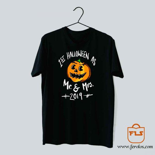1st Halloween Mr Mrs 2019 T Shirt