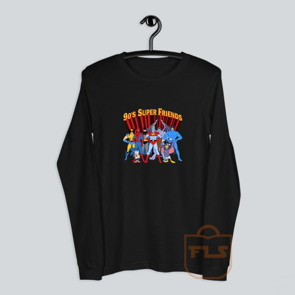 90's Super Hero Friends Parody Long-Sleeve
