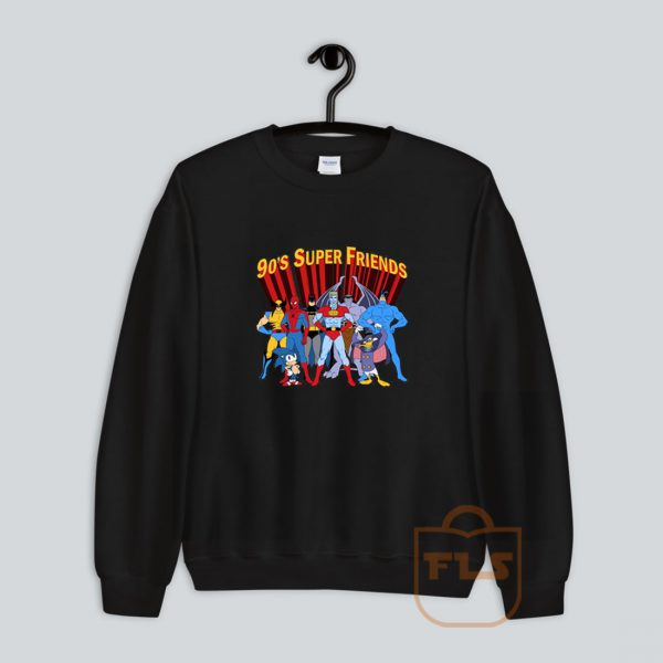 90's Super Hero Friends Parody Sweatshirt