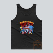 90's Super Hero Friends Parody Tank Top