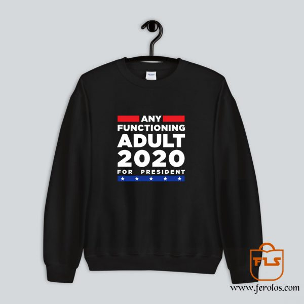 Any Functioning Adult 2020 For President Sweatshirt