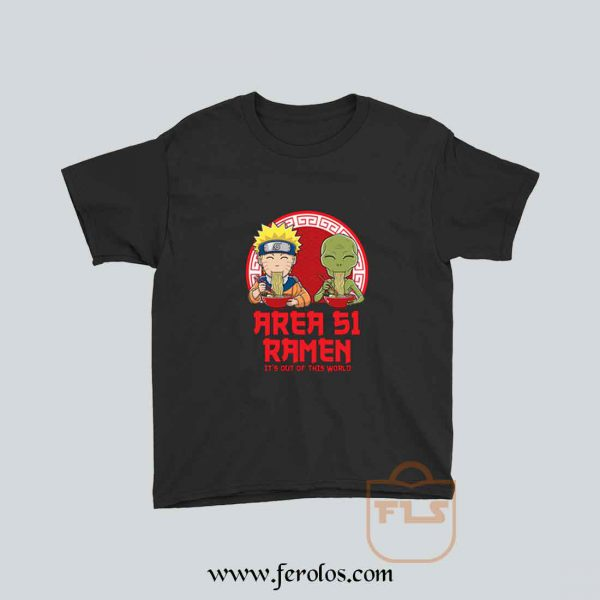 Area 51 Ramen Naruto Parody Youth T Shirt