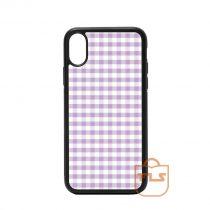 Bright Crocus Petal Pink Gingham iPhone Case