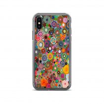 Colourful Spirograph Drawing iPhone Case