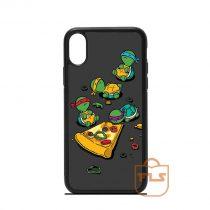 Cute Ninja Turtles Love Pizza iPhone Case