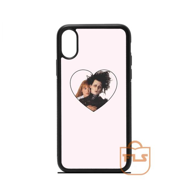 Edward Scissorhands and Kim iPhone Case
