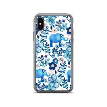Elephant Floral Watercolor Pattern iPhone Case