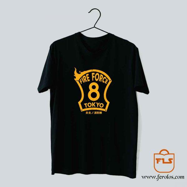 Fire Force 8th Company Tokyo T Shirt