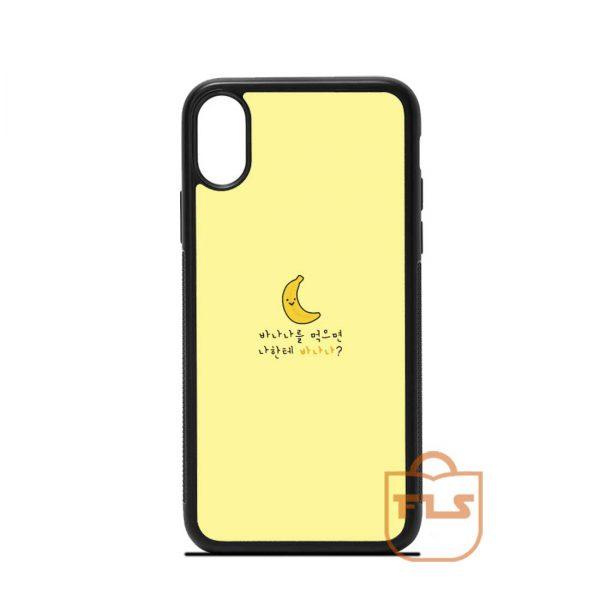 Funny Yellow Banana iPhone Case