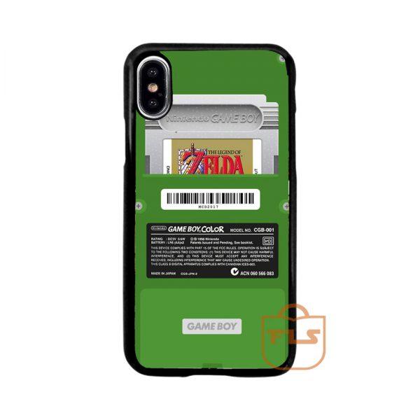 Gameboy Zelda Green iPhone Case