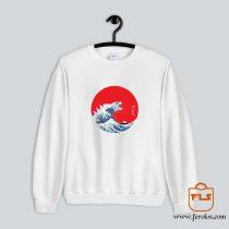 Hokusai Kaiju Sweatshirt