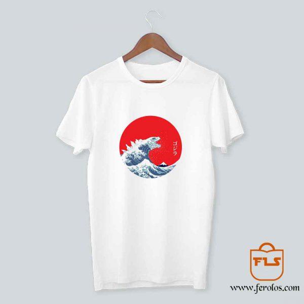 Hokusai Kaiju T Shirt