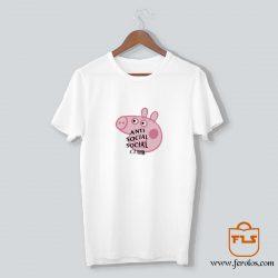 Peppa Pig Anti Social Social Club T Shirt
