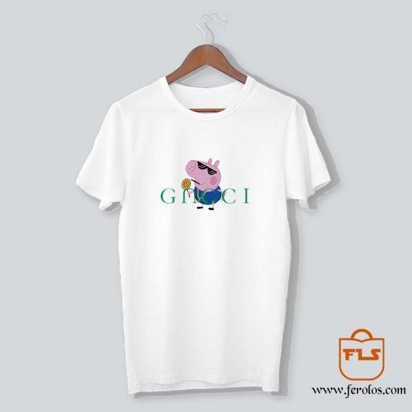 Peppa Pig Gacci Gangster T Shirt