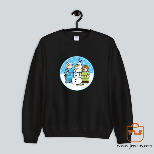 Princess Disney Lego Build Snowman Sweatshirt