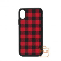 Red and Black Buffalo Plaid iPhone Case
