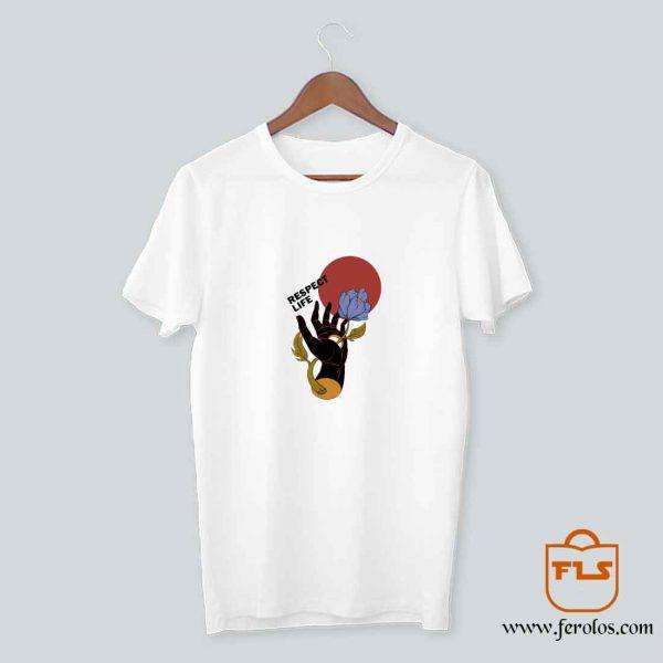 Respect Life Hand Flower T Shirt