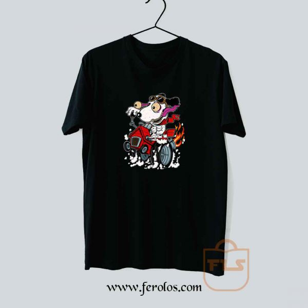 Snoopy Crazy Race Car T Shirt