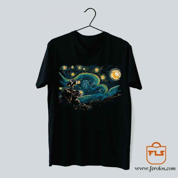 Starry Night Robot T Shirt