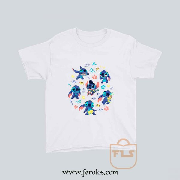 Stitch Collage Youth T Shirt