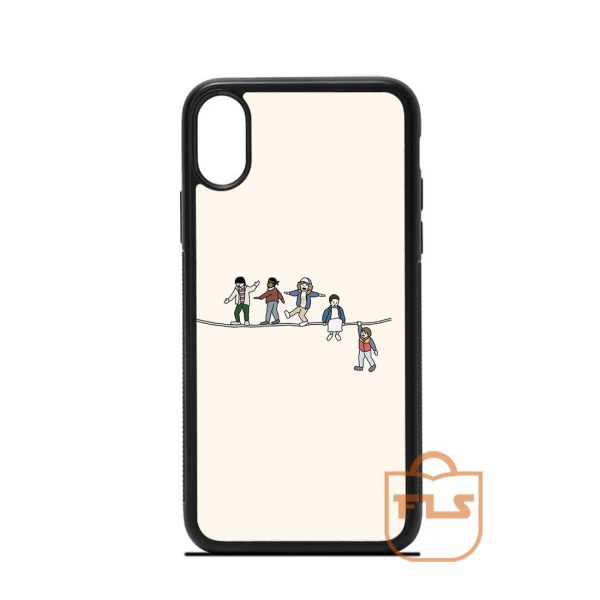 Stranger Things Acrobats Fleas iPhone Case