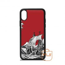 The Great Wave Red One Piece iPhone Case