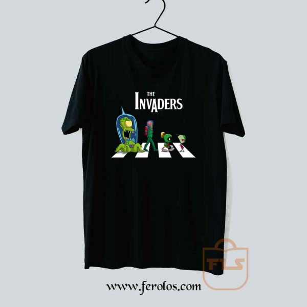 The Invaders Abbey Road Parody T Shirt