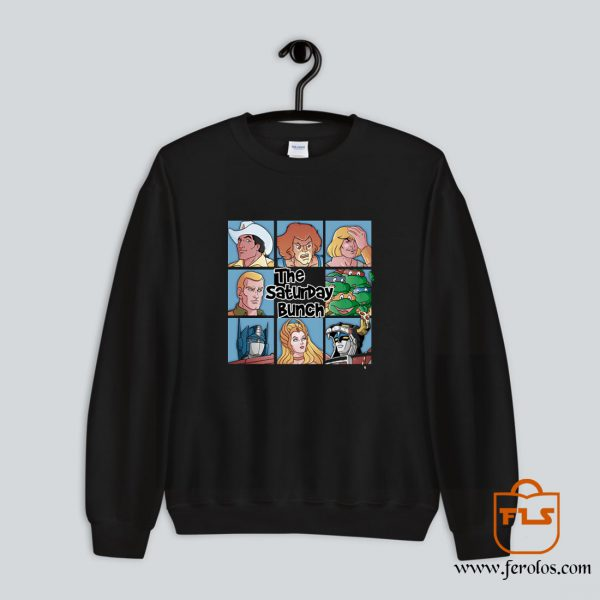 The Saturday Bunch 80s Cartoon Sweatshirt