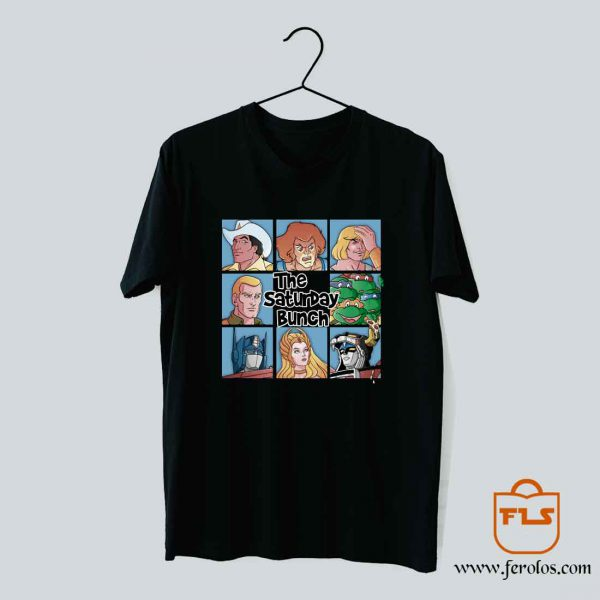 The Saturday Bunch 80s Cartoon T Shirt