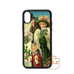 Vintage Christmas Greeting Card iPhone Case