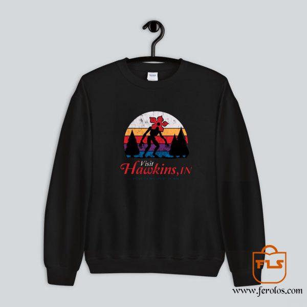 Visit Hawkins Demogorgon - Stranger Things Sweatshirt