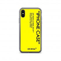 Yellow Abloh Off White iPhone Case