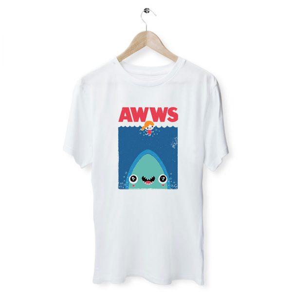 Awws Cute Jaws Parody T Shirt