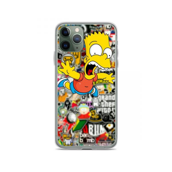 Bart Bomb Sticker iPhone 11 Case