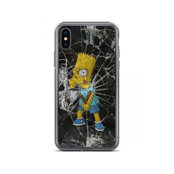 Bart Simpson Cracked Glass iPhone Case