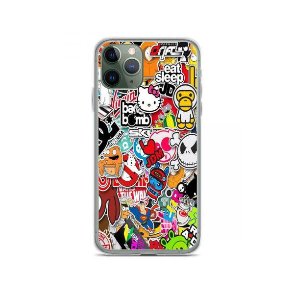 Cartoon Sticker Collage iPhone 11 Case