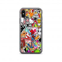 Cartoon Sticker Collage iPhone Case
