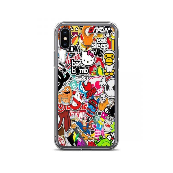 Cartoon Sticker Collage iPhone Case