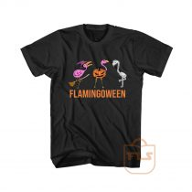 Flamingoween Halloween Cheap Graphic Tees