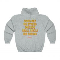 Good Sex No Stress One Boo Small Circle Big Checks Hoodie