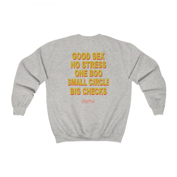 Good Sex No Stress One Boo Small Circle Big Checks Sweatshirt