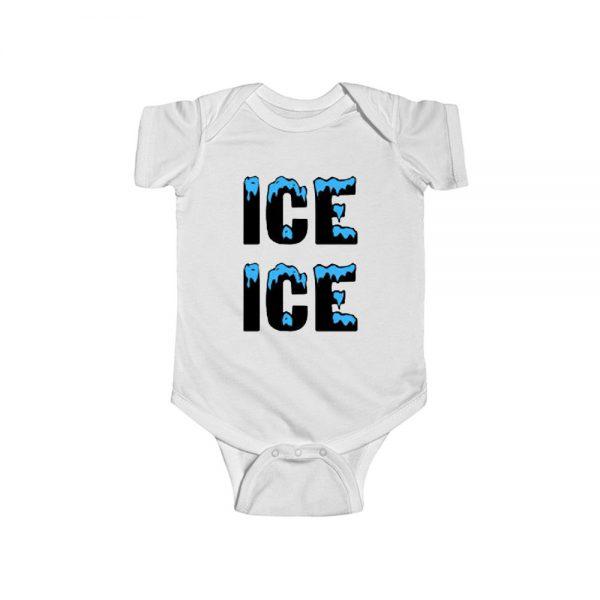 Ice Ice Blue Black Baby Onesie