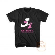 Just Beat It Breast Cancer Warrior Snoopy T Shirt