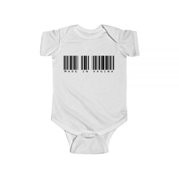 Made in Vagina Barcode Baby Onesie
