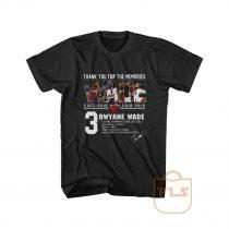 Miami Heat Dwyane Wade Thank You For The Memories T shirt