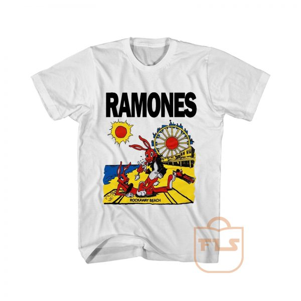 Ramones Rockaway Beach Bunny Cheap Graphic Tees
