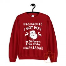 I Got Hos in Different Area Codes Cozy Sweatshirt