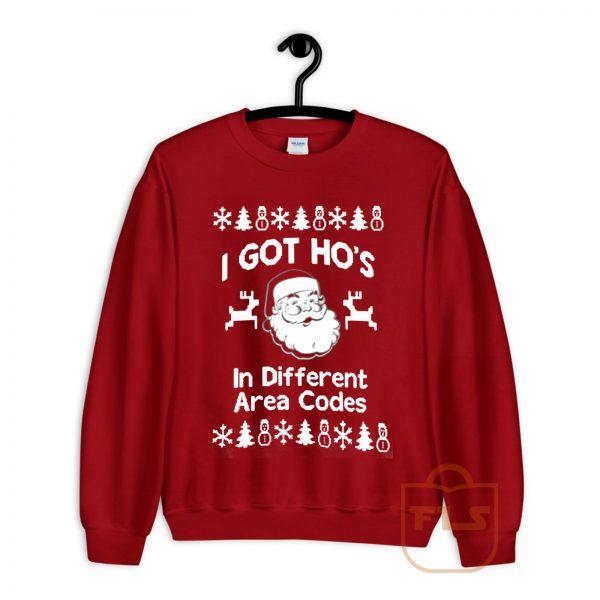 I Got Hos in Different Area Codes Cozy Sweatshirt