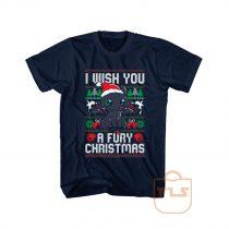 I Wish You a Fury Christmas Ugly T Shirt