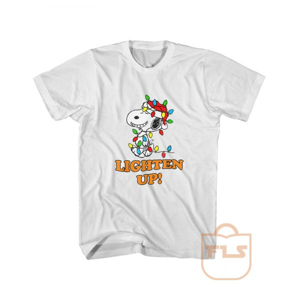 Peanuts Snoopy Christmas Lighten Up T Shirt